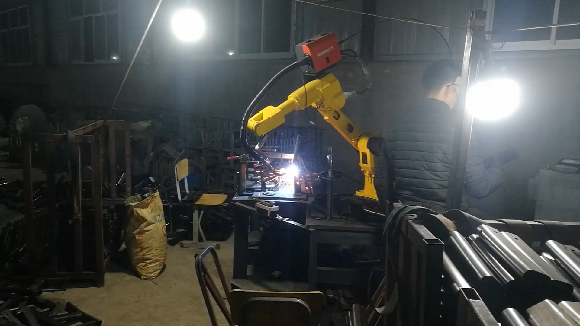 Application Of Turing Robot Seat Welding